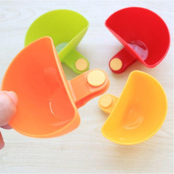 Großhandel-Dip Bowl für verschiedene Salat Sauce Ketchup Marmelade Geschmack Zucker Gewürze Dip Clip Cup Bowl Untertasse Geschirr Küche Zubehör Gadgets