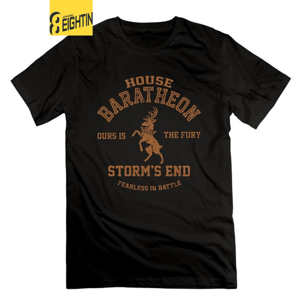 Game of Thrones T-Shirt House Baratheon Ours is the Fury Storm's End Summer Tees 100% Cotton Tops Mens T Shirt O Neck
