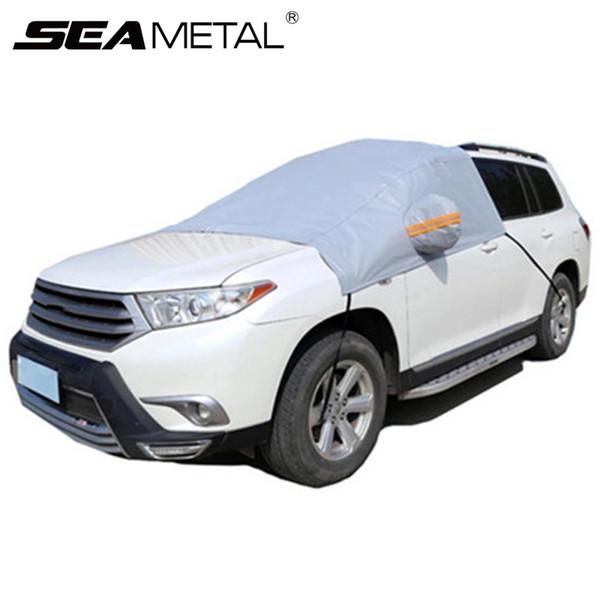 Car-covers Cubiertas de parabrisas delantero Automóviles PEVA Universal Snow Proof Impermeable a prueba de polvo Sunproof Summer Winter Accessories