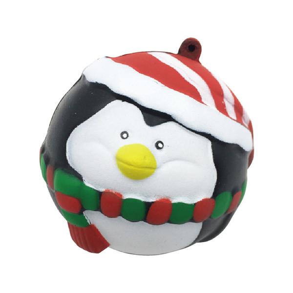 Kawaii Noel Penguen Topu Karikatür Hayvan Squishy Doll DIY Dekor Antistres Yükselen Yavaş Çocuklar Noel Hediye Komik Oyuncaklar P15