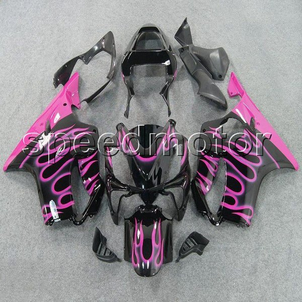 colors+Gifts Injection mold pink flames CBR600 F4i 01-03 motorcycle cowl Fairing for HONDA CBR 600F4i 2001 2002 2003 ABS plastic kit