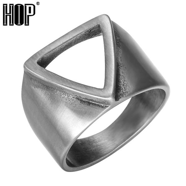 Geometrie Dreieck alten Ring Super Cool Alien Ringe Gold Silber Edelstahl Titan Ringe für Männer Schmuck Größe 9-13