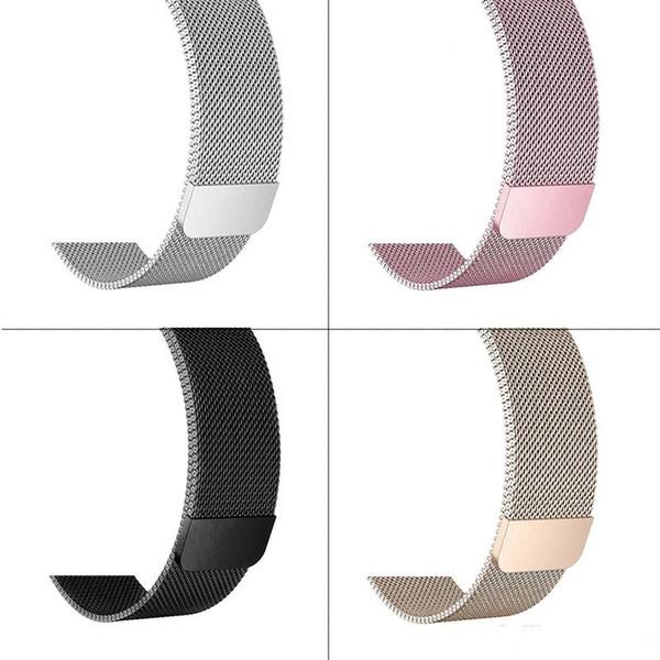 Milanese Loop Band para Apple Watch Band Series 1 2 3 Correa de reloj magnética de acero inoxidable 38mm 42mm Con conector de adaptador para iwatch