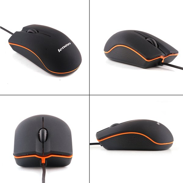 top popular Lenovo M20 USB Optical Mouse Mini 3D Wired Gaming Manufacturer Mice With Retail Box For Computer Laptop Notebook C-SJ 2019