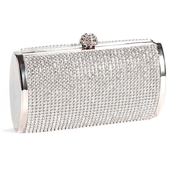 TEXU Diamant Clutches lange Handtasche Damen Strass Abendtasche Schulter Kette Party Bankett Abend Handtaschen