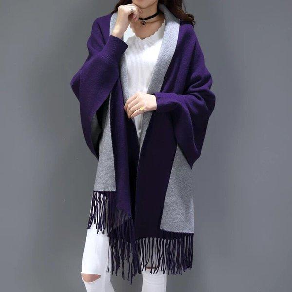 Púrpura con gris