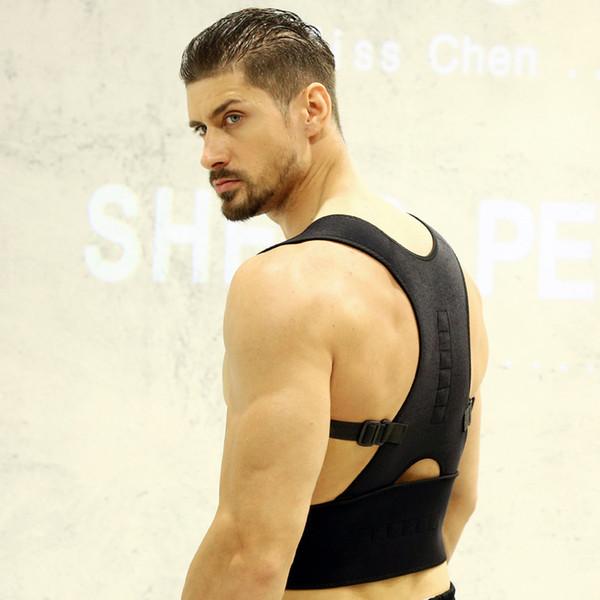 New Unisex Adjustable Back Supports Back Shoulder Posture Basketball Correction Fitness Equipment Comfortable Lumbar Belt 2PCS Wholesale