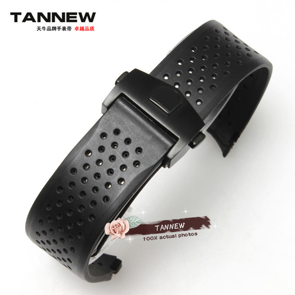 Rubber watch band 22MM men silicone strap for T-AG Tiger