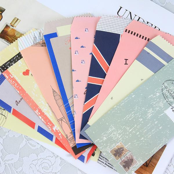 50 pezzi / lotto Corea Navy stile Mini busta di carta colorata Kawaii piccolo regalo del bambino Buste artigianali per inviti di nozze lettera