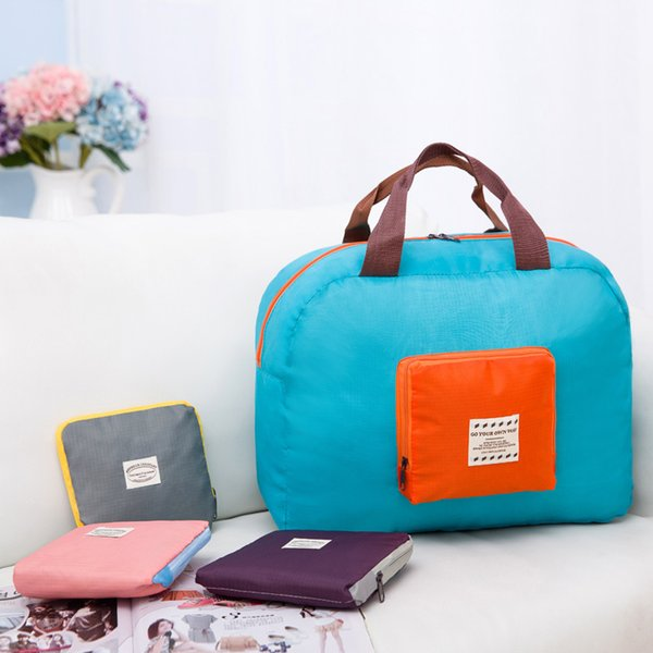 Nylon Foldable Waterproof Storage Eco Reusable Shopping Tote Bags Multi-function bag Folding receive package Shopping bag