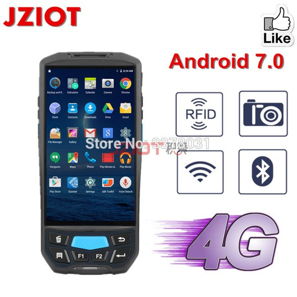 5.0inch Touch Screen Android Barcode Scanner 1D 2D QR Laser Bar Code Scanner rfid uhf mobile reader wireless rugged PDAs