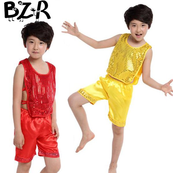 Bazzery jazz suit for boy performance clothing dance clothes children ballroom attire party stage jazz dance dress costume