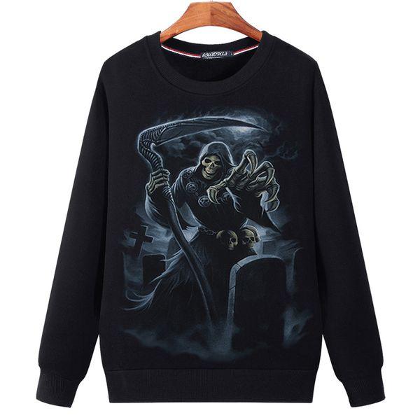 2018 Autumn Hoodies Men Harajuku Style Silver Dragon Print 3D O-neck Pullover Unisex Sweatshirts Plus Size M-5XL Young Boy