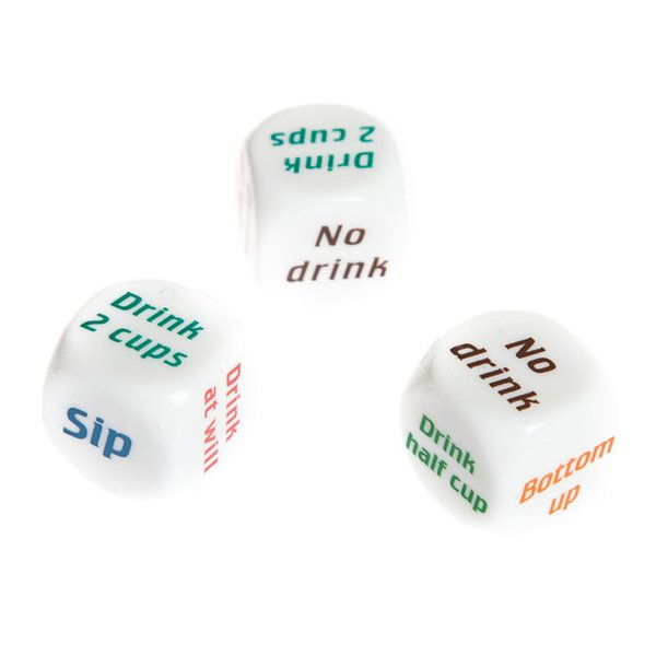 2.5cm Creative Acrylic Drink Decider Dice Color Print English Adult Funny Party Game Festive Supplies Hot Sale 0 8qz hh