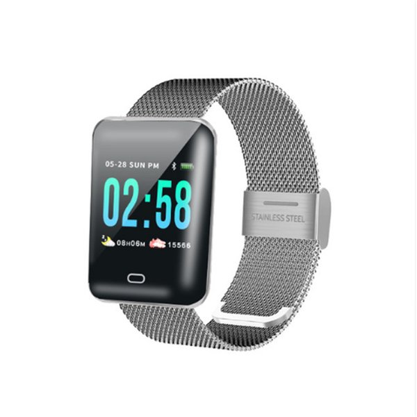 B8 women smart wristband color screen smart bracelet heart rate monitor multiple spor model men wearable devices for Android iOS