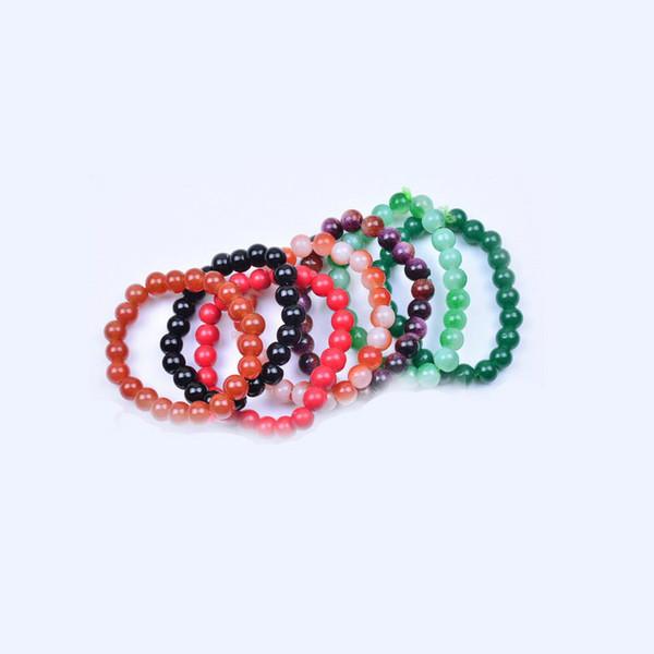 1Pc Office Fashion Wristband Charming Bangle Wedding Bracelet Girl Wholesale Glass Colorful Red White
