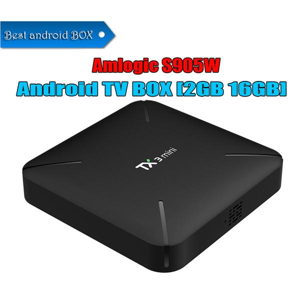 Wholesale Tx3 mini Android 7.1 Internet TV Box 2GB 16GB Amlogic S905W Quad Core WiFi 4K Media player Best Smart TV BOX