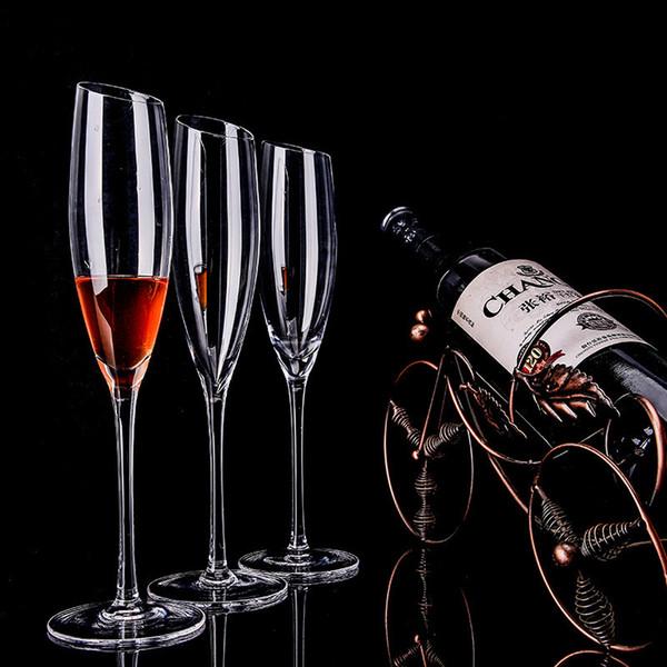 Elaborate Design Champagne Glass Lead-free Crystal Wine Glass Transparent High-grade Diamond Hand Ramp 4pcs/set