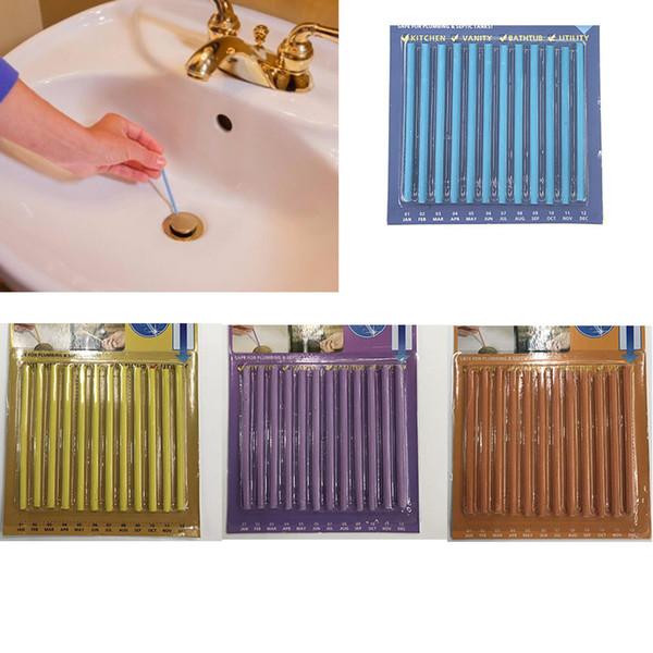 Sani Stick Conduit Bathtub Sewer Decontamination Sticks Cleaning Keep Your Drain Pipes Toilet Bathtub Drain Cleaner Sewer Rod good