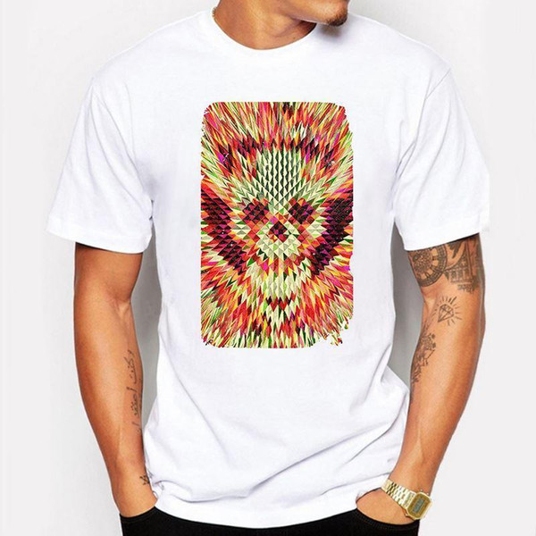 Camping & Hiking T-Shirts Summer T-Shirt Men Colorful punisher Skull anime Print T Shirt White hip hop funny Casual Tshirt tee shirt homme