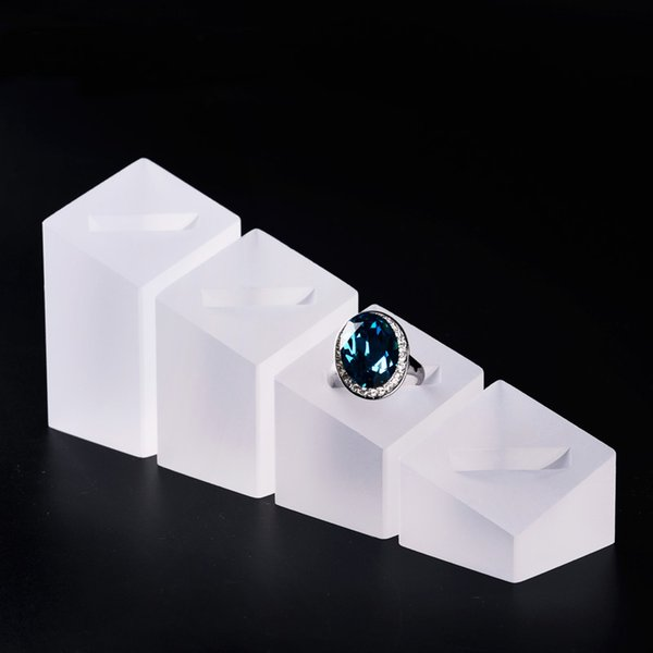 Luxury Jewellery Ring Display Holder Stand Acrylic Jewelry Counter Showcase Displays Trade Show Finger Rings Exhibition Prop Set of 4 PCS