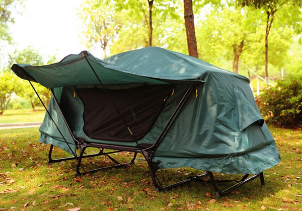 Free build mountain camping set up off the ground bed tent outdoor essential leisure multi-function fishing tent