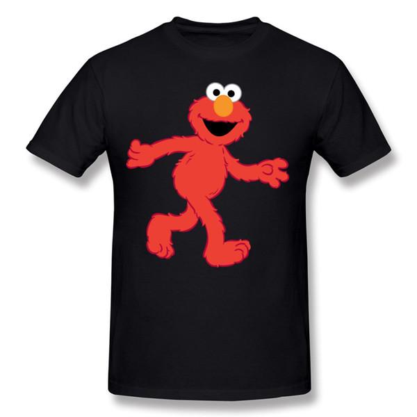 Homens marca de Algodão Rua Sésamo Elmo T Camisas Dos Homens Em Torno Do Pescoço Branco de Manga Curta Camisetas Grande Tamanho Personalizado Camisas de T