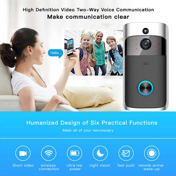 Campanello per campanello wireless con campanello video WIFI con videocamera Campanello per controllo remoto Campanello visivo intelligente per casa