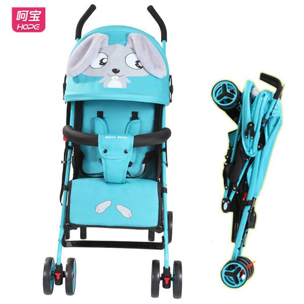 HOPE Baby Four Wheels Stroller Ultra-light Portable Travel Car Stroller Can Sit Lie Down Child Shockproof Trolley Pram Pushchair
