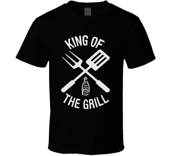 King of The Grill Barbecue Utensils T Shirt Hot Sale Men T-Shirt Fashion Men'S O-Neck Printed Tee Shirt Chinese Style