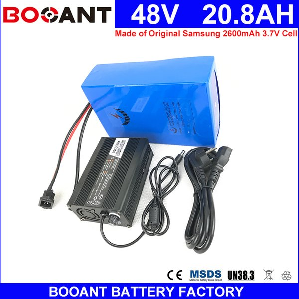 booant 48v 20ah 1000w made of samsung 18650 cell for bafang 1000w motor e-bike 48v scooter bike li-ion battery with 5a charger