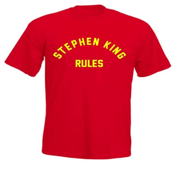 Stephen King Rules Monster Squad 80s Movie T Shirt funny 100% Cotton t shirt harajuku Summer 2018 tshirt