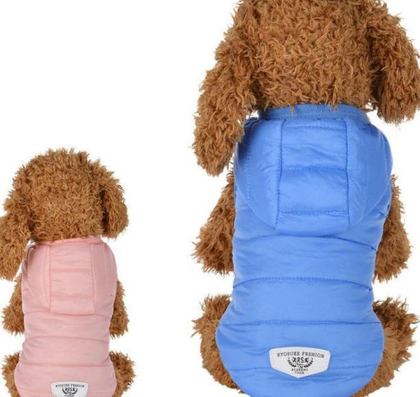 New bread, small cotton padded jacket, pet autumn winter clothing, dog clothing, teddy PmeI, bear clothes, pet clothes.