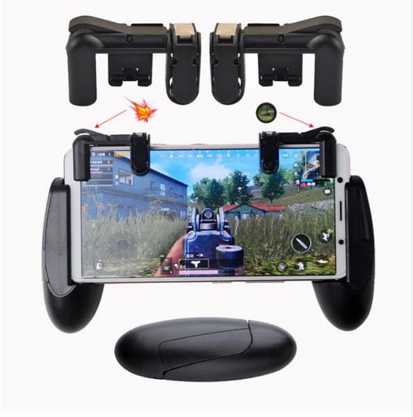 PUBG Controlador de Jogo Móvel Shooter Gatilho Botão de Fogo Mão Shank Hand-grip Controlador de Jogo de Toque Físico Presente Agradável para amigo