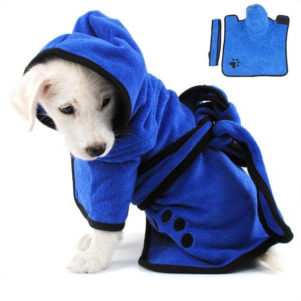 Dog Towel Super Absorbent Dogs Bathrobe Fiber Dog Towel Quick Dry XS-XL Pet Bath Dogs Quickly Drying Pet Supplies