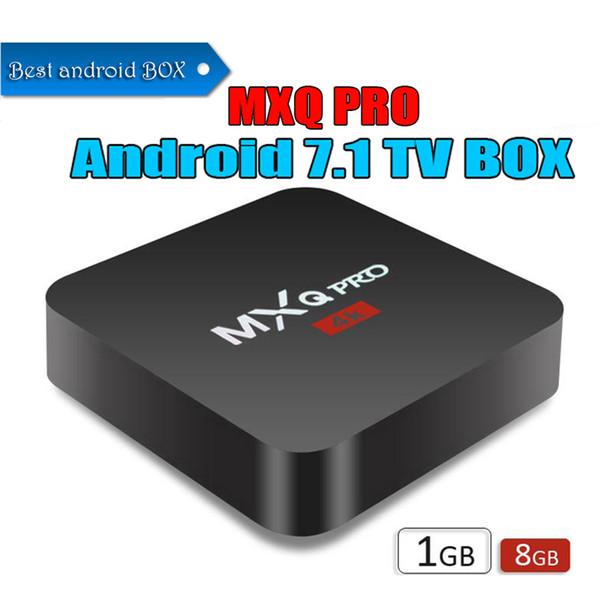 MXQ Pro 4K Android 7.1 TV Box 1GB 8GB RK3229 Rockchip Quad Core Streaming Media Player Internet Boxes better S905X S905W x96 mini