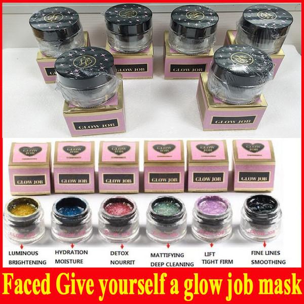2018 Mais Novo Faced Cosmética dar-se um brilho máscara de trabalho 50 ml 6 cores rosto cuidados faciais máscara creme