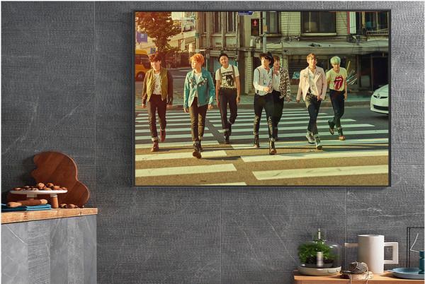 Projetos diferentes BTS Cartaz Adesivos de Parede Para Casa Quarto Decoração de Papel impressão quarto da Menina da parede Pictures presentes