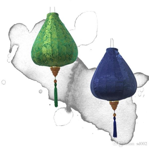 Las linternas de seda del satén para la manera tradicional chino del linterna del diamante del estilo del vintage del regalo lindo para el partido multi colores de alta calidad 40bt4 ZZ
