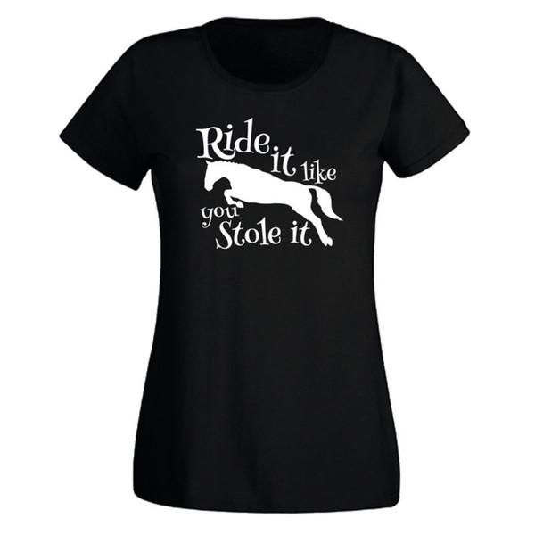 Tee-shirt Femme Cheval Tee - T-shirt Eté Equitation Drole Etole Equitation Drole T-shirt Femme 2017