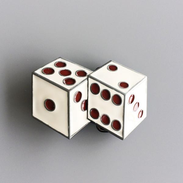 Jean's Friend New Red Enamel Dices Casino Gamble Vintage Belt Buckle Gurtelschnalle Boucle de ceintur BUCKLE-CS023WH Nuevo Envío gratis