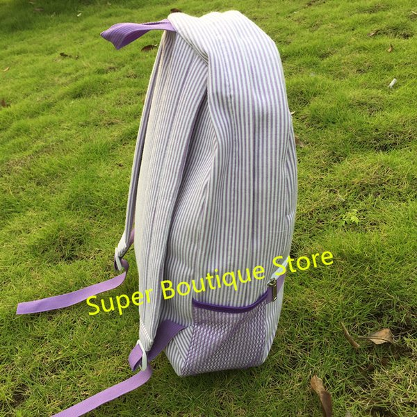 New design fashion high quality stylish student school bag Wholesale Various Fancy Seersucker Backpack
