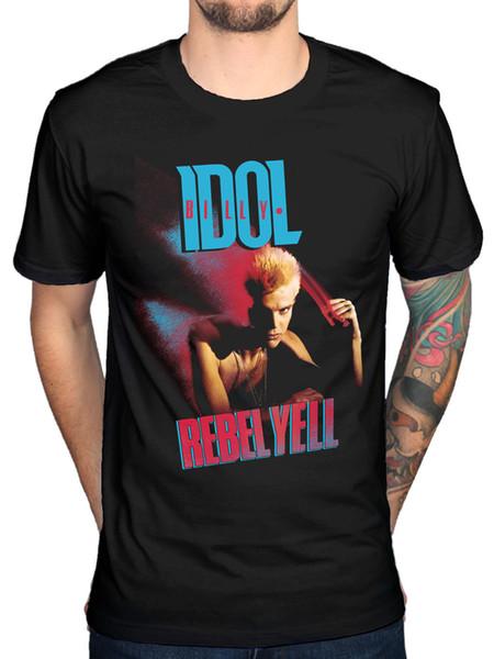 Resmi Billy Idol Rebel Yell Kapak T-Shirt Beyaz Düğün Mony Mony Yeni MerchFunny ücretsiz kargo Unisex Rahat