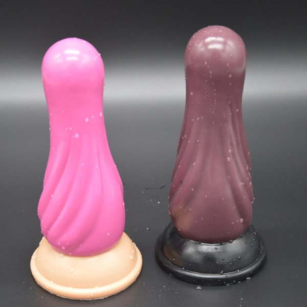 New Design Silicone Gourd Anal Dildos Plug Prostate Massager Butt Stopper Adult Products Anus Dilator Expander Toys H8-2-72