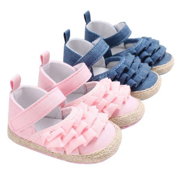 Mode Baby Mädchen Schuhe Lotus Blatt Ohr Casual Prinzessin Baby Weichen Boden Kleinkind Prewalkers