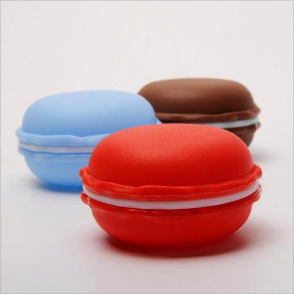 Contenitore di monili creativo di PP 9 colori Macarons torta di plastica rotonda Candy Mini contenitori di regalo Trasporto libero all'ingrosso 0717WH