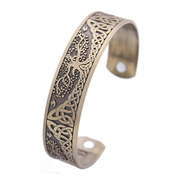 Skyrim Ankle Bracelet Life Tree Engraved Jewelry Viking Cuff Bangle Sier  Plated Magnetic Bracelets Bangles 3b1817125
