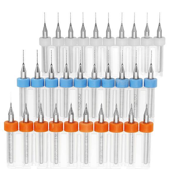 10pcs 3.175mm Shank Micro Drill Bits 0.3/0.4/0.5mm PCB Carbide Drill Bit CNC Engraving Tool