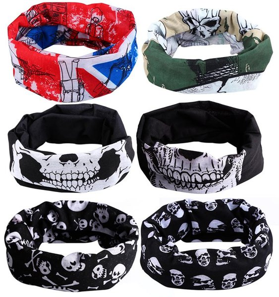 Hot Sale Halloween Punk Skull Face Mask Bandana Snood Bike Helmet Ski Sport Headband Wind Hood Balaclava Neck Tube Snood Scarf