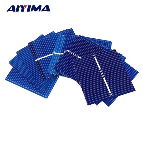 Batteries Cells, Panel AIYIMA 100pcs 0.5V 0.25W 0.5A 39 * 39mm Polycrystalline Silicon Solar Panel DIY Charger Battery Solar Cell